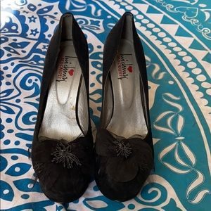 Shoes - Super cute black platform shoes size 9